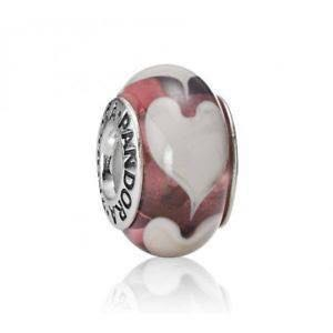 0eb7ed294 PANDORA authentic murano glass purple heart charm, Women's Fashion ...