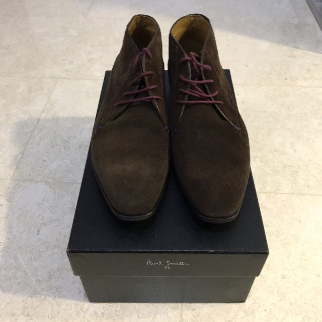 b283fa190e17 Paul Smith 'Aldrich' Wing Cap Brown Suede Chelsea Boot Mens UK7 With  Original Box, Men's Fashion, Footwear, Formal Shoes on Carousell