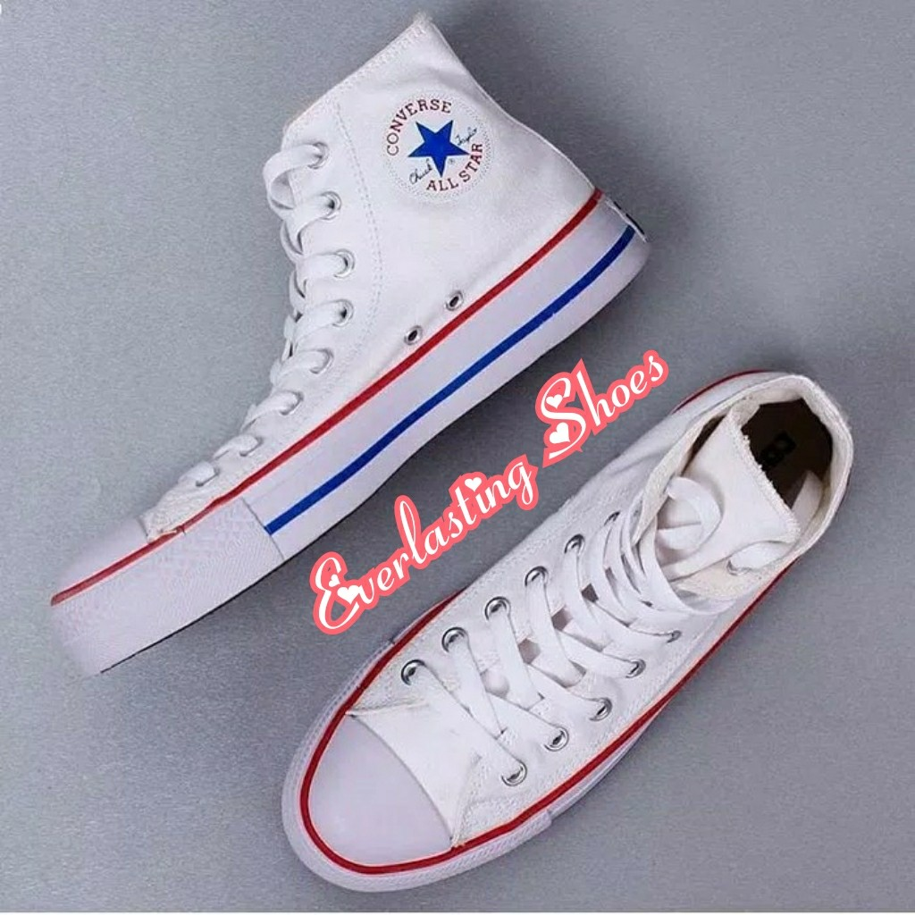 Sepatu Converse All Star High White Putih Listed List Merah Red Premium  Quality Sneakers Sneaker Grade Ori Import Lokal Shoes Shoe Tali Putih 3079199b80