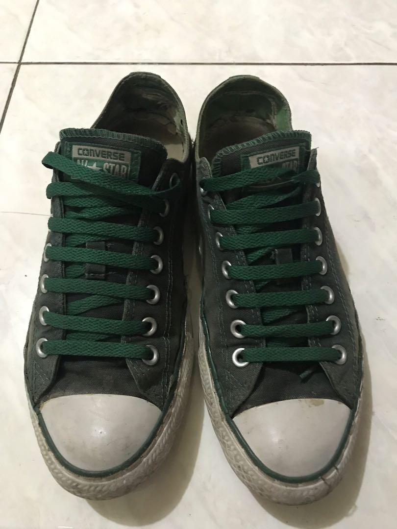 sepatu converse hitam hijau size 42 original 2266004697