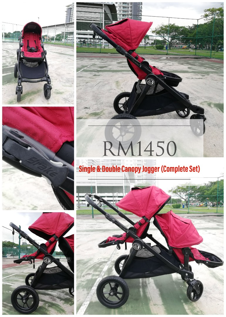 Double Stroller Jogger City Select Tandem Stroller