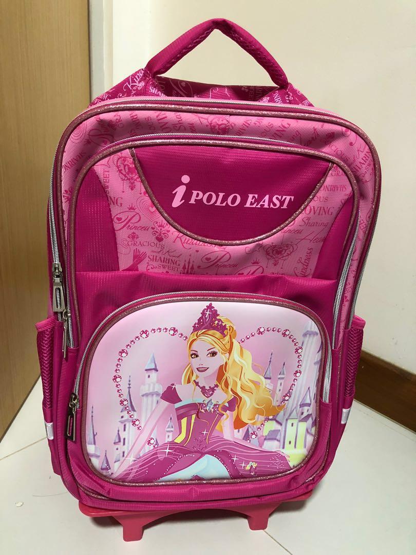 2d1695787016 Three Wheel Trolley School Bag