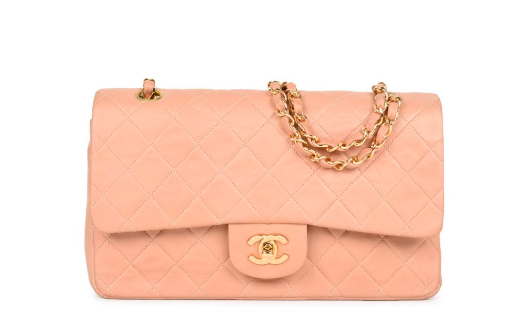 39350d1d97d5 VINTAGE: Chanel Blush Pink Medium Classic Flap, Luxury, Bags ...