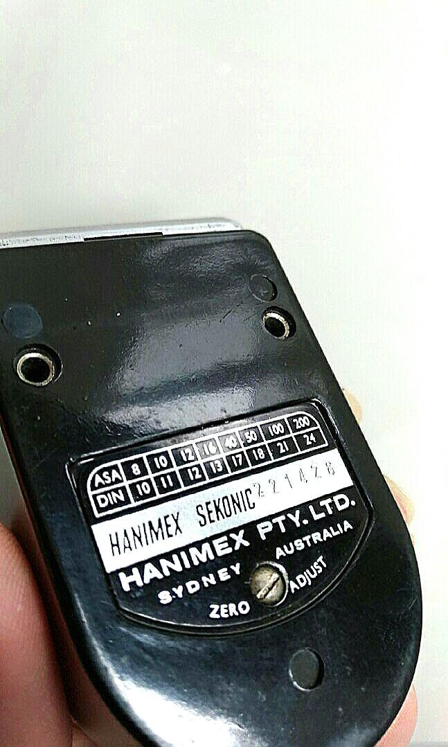 Vintage Sekonic Hanimex Film Light Meter in Small Size with