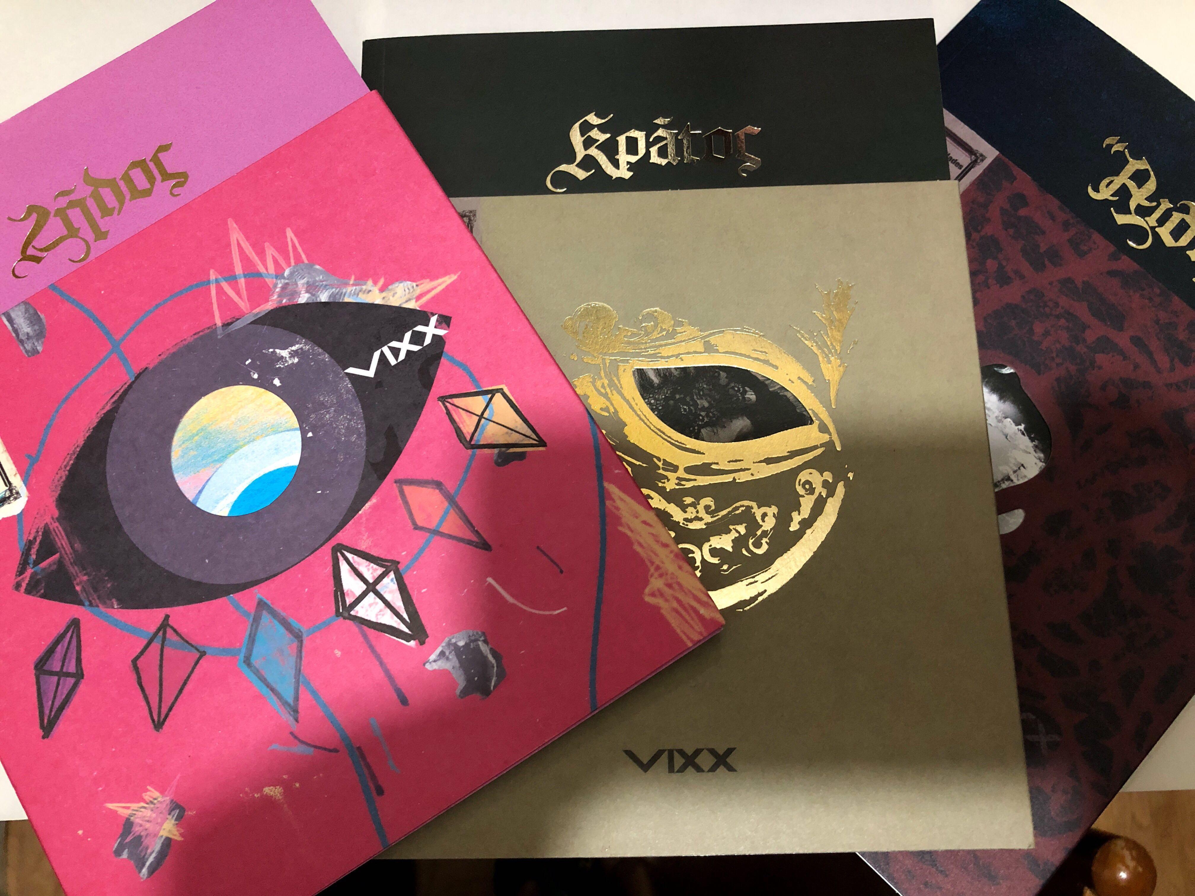 VIXX Zelos Kratos Hades專輯(不包括小卡和海報)