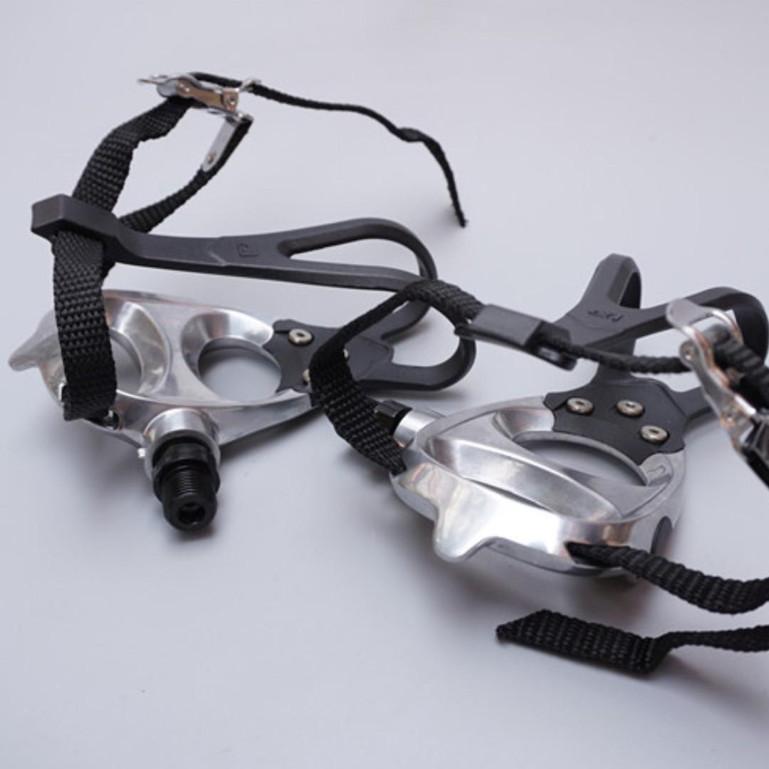 VP-398 Pedal+Toe Clip + Foot Beam for Fixed Gear VP-398 鋁合金死飛車狗嘴腳踏