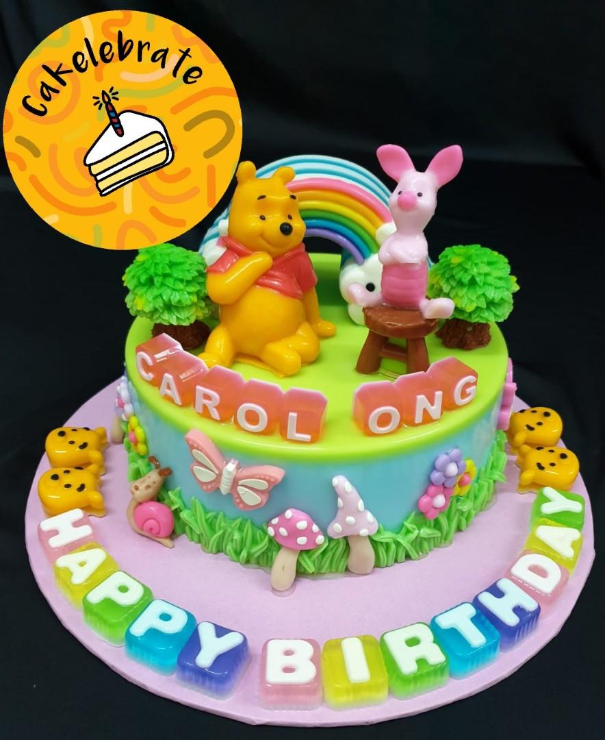 8 Winnie The Pooh Birthday Jelly Cake Food Drinks Baked Goods