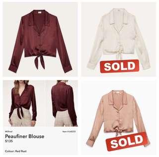 Aritzia Peaufiner Blouses Worn Once - XS and S