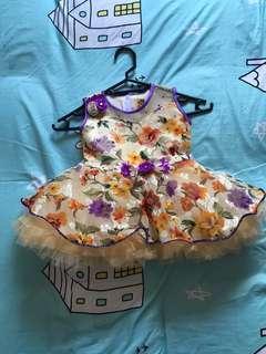 #1212 Cute fluffy dress