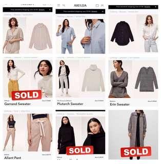 Aritzia Wilfred & Babaton Entire Wardrobe On Sale