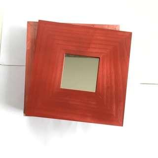 Malma Ikea Red Mirror