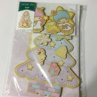 Japan Tokyo Sanrio Little Twin Stars 聖誕節 立體賀卡 聖誕卡 裝飾