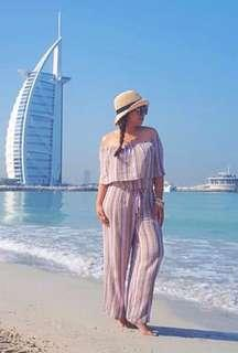 Two piece tube jumpsuit