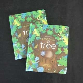 💥 NEW - Usborne Peep inside - A Tree -  Children Story Books #1212