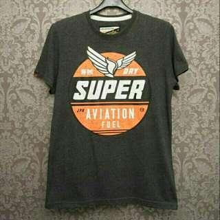 🚚 正品Superdry極度乾燥灰黑色T恤/短T~M號