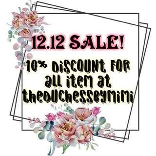12/12 SALE!!!! UNTILL 12PM TOMORROW... HAPPY SHOPPING GAIS!