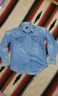 F.O.B denim western shirt