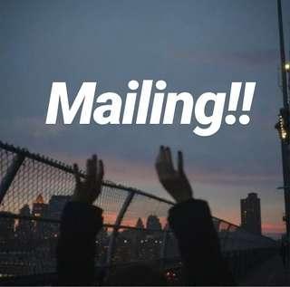 I do mailing now!!