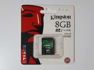 BN Kingston Class 10 SDHC Memory Card 8GB