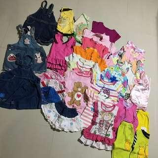 $15 for 2+ to 4 year little girl cloth