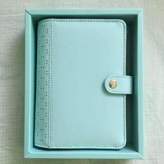 [Kikki.K] Mint Perforated Leather Planner Medium