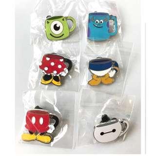 Disney game Pin 迪士尼 遊戲 徽章 水杯 系列 1 套 6 款