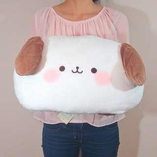 Funi Funi Marshmallow puppy LARGE cushion. Authentic from Japan. 45CM