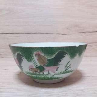 民國醴陵釉下彩公雞碗 寬12.5cm 高6cm