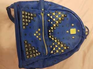 Mcm blue bag backpack