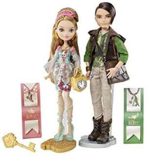 """絕版 罕見 2015年 Ever After High Ashlynn Ella and Hunter Huntsman Doll set 11"""" figure 1盒"""
