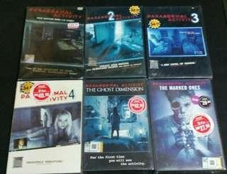 Dvd Paranormal Activity 1set..