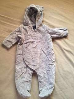 Baby gap bodysuit with hood