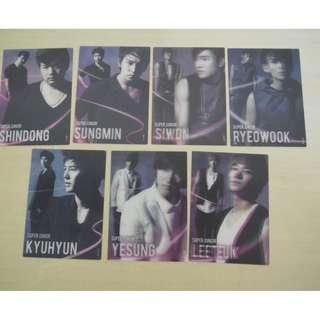 [LAST 1][CRAZY DEAL 90% OFF FROM ORIGINAL PRICE][READY STOCK]SUPER JUNIOR KOREA OFFICIAL STAR CARD 7PC=RM2 ;ORIGINAL & OFFICIAL FROM KOREA.PRICE NOT INCLUDE POSTAGE; POSLAJU:PENINSULAR AREA :RM10/SABAH SARAWAK AREA: RM15