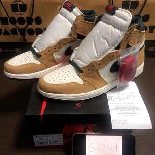 "Local Pair US10/UK9 Nike Air Jordan 1 Retro High ""Rookie of the Year"" ""ROTY"" ""ROY"""