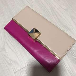 Charles & Keith Pink and Nude Wallet