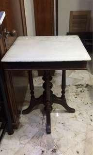 Vintage Marble Table (2Ft)