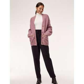Aritzia Wilfred Purple Wool Cardigan (3rd picture is of the actual item, discontinued colour)
