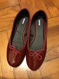 全新 SHOOPEN burgundy flat 棗紅色 平底鞋