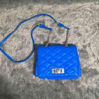 Zara Blue Electric Sling Bag Tas Selempang Biru