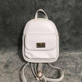 Ptr Project Mini Ransel Backpack Putih White Sling Bag