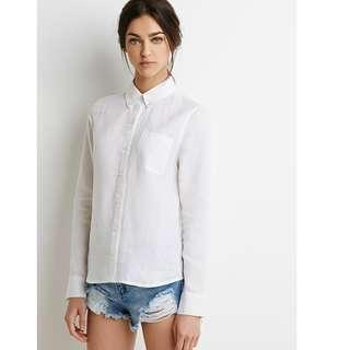 Forever 21 Simple White Button Up