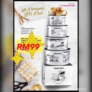 Tupperware Limited Edition Lat Cartoon One Touch #MY122