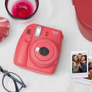Instax Mini 9 Flamingo Pink Free Film Refill