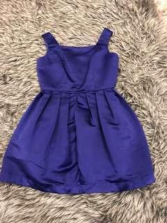 Topshop purple silk dress