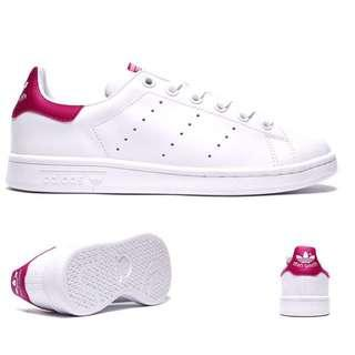 Adidas Stan Smith white/pink size 7 womens