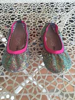 Original Cotton On Kids - Girl's Glitter Ballet Flat Shoe #MY1212