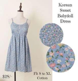Korean Sweet Babydoll Dress (New)