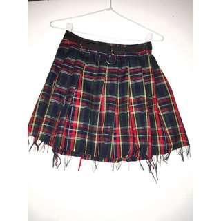 Crimson dress code plaid skirt