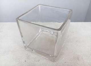 Domayne Glass Cube Vase
