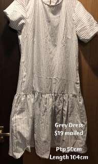 Grey Checkered Dress